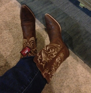 And lo, the glory of Texas shone all around her booted toes.